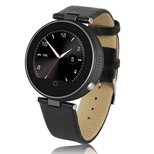 ZGPAX Smartwatch S365 Bluetooth 4.0 Montre Intelligente Ronde Synchrone avec Smartphone Supporte Siri/ Musique/ Telephone/ Anti-perte/ Podomètre pour Android et iOS iPhone 4/4S 5/5S 6/6 Plus Samsung Galaxy S3/S4/S5/S6 HTC/Sony Noir TH198