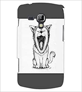 PrintDhaba Yawning Cat D-1440 Back Case Cover for SAMSUNG GALAXY S DUOS 2 S7582 (Multi-Coloured)