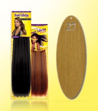 Beauti-Collection-Human-Hair-Weave-Yaki-Weave-10-27-Blonde-Size-10