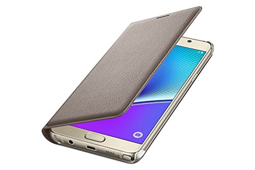 AEMA (TM) Samsung Galaxy A5 Case Wallet Cover Folio, Flip cover for samsung galaxy A5 (2015)- Gold  available at amazon for Rs.249
