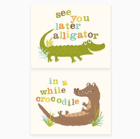 "Sea Urchin Studio Print Set, See You Later/Alligator, 8"" x 10"" - 1"