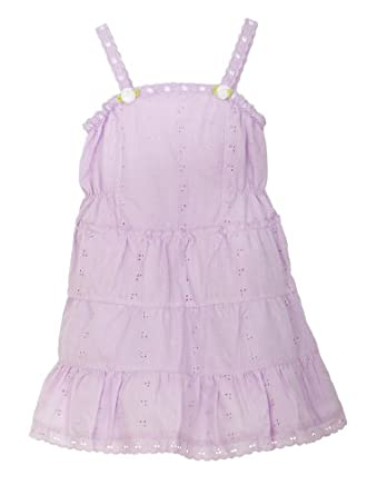 Little Bitty Eyelet Sundress with Extra Wide Hem and Hat , LILAC, 6X