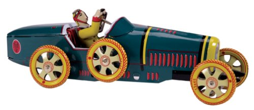 Green wind-up tin Bugatti T-35 Ducati race car