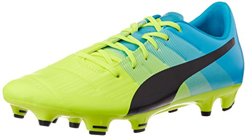 PumaevoPOWER 3.3 FG - Scarpe da Calcio Uomo , Giallo (Gelb (safety yellow-black-atomic blue 01)), 42.5
