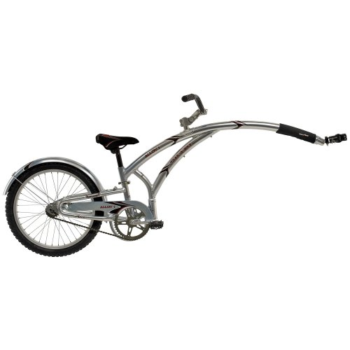 "Adams Trail-A-Bike Original Alloy Folder One - 20"", Metallic Gray front-93955"