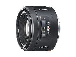 Sony 50mm f/1.4 Lens for Sony Alpha Digital SLR Camera (Black)