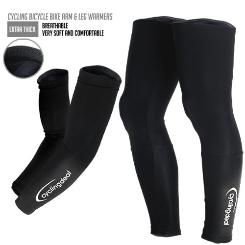 Cycling Bicycle Bike Arm & Leg Warmers Size XXL (Men Leg Warmers Cycling compare prices)