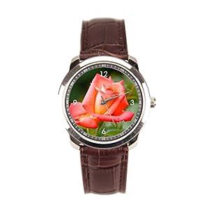 sanYout Leather Watches Orange Men Wrist Watches Close Shot Leather Band Watches Jamfoto