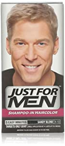 Just for Men Shampoo-In Hair Color, Sandy Blond 10, 1 application, (Pack of 3)