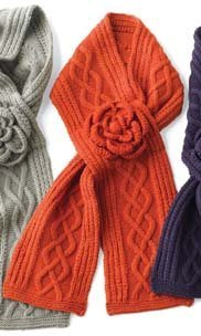 Mud Pie Cable Knit Scarf (pumpkin) (Mud Pie Scarves compare prices)