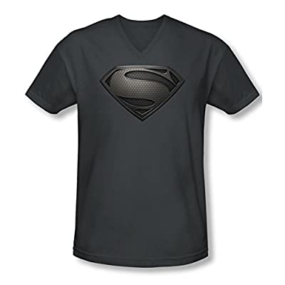 Superman Man of Steel Mos Desaturated Slim Fit V-Neck T-Shirt