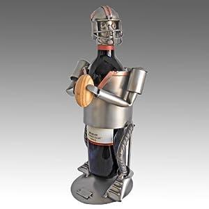 American Football Player Steel Wine Bottle Caddy - 6096-LI