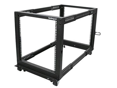 startech-adjustable-4-post-server-rack-with-casters-levelers-and-cable-management-hooks