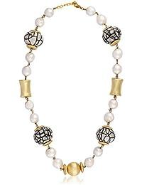 Shaze Brass Gold Plated CZ Designer Goldy Necklace For Women