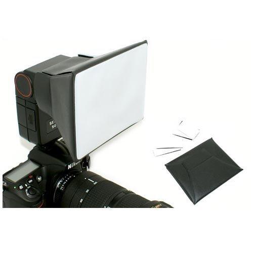 Kaavie - Diffusore Softbox Portatile Flash per Optek Universale Flash per Canon 430EX II, 420EX, 380EX, 580EX II, Nikon SB800, SB600, SB700, SB900, Sigma, Sony, Olympus Blitz. Dimensioni dello schermo del diffusore: 130mmx110mm