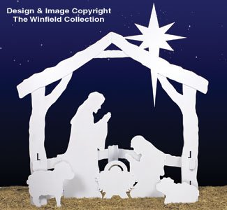 photo relating to Printable Nativity Scene Patterns titled Gun rack woodworking types, Absolutely free Plywood Nativity Scene