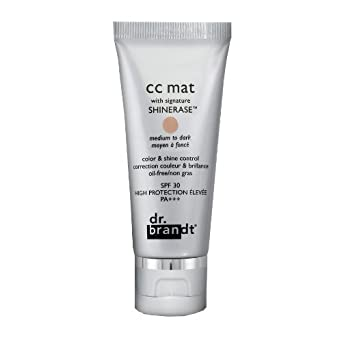 dr. brandt CC Mat with Signature Shinerase, Medium to Dark 30 g