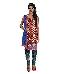 Mumtaz Sons Women's Cotton Unstitched Dress Material (MS111457D,Maroon)