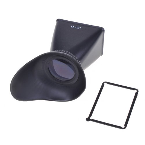 Neewer V2 2.8X Magnifier Lcd Screen Extender Viewfinder Magnetic Eyecup Hood For Canon Eos 500D, 550D, 600D / Rebel T1I T2I T3I And 60D Digital Slr Cameras