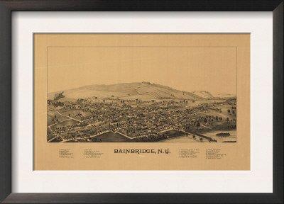 bainbridge-new-york-panoramic-map-framed-art-poster-print-19x14