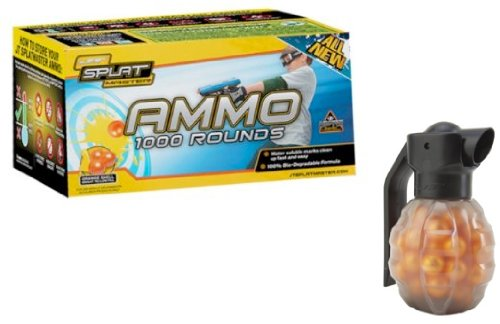 Jt Splatmaster 1000Ct Paintball Ammo - Orange W/Free 50Ct Grenade
