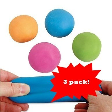 Pull and Stretch Bounce Ball – 3 Pack