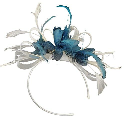 weiss-und-aqua-net-hoop-feder-haar-fascinator-haarband-hochzeit-royal-ascot-races