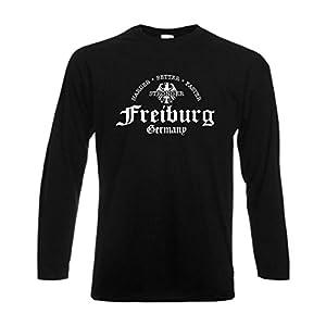 Longsleeve Freiburg, harder better faster stronger, langarm T-Shirt (SFU07-30b)