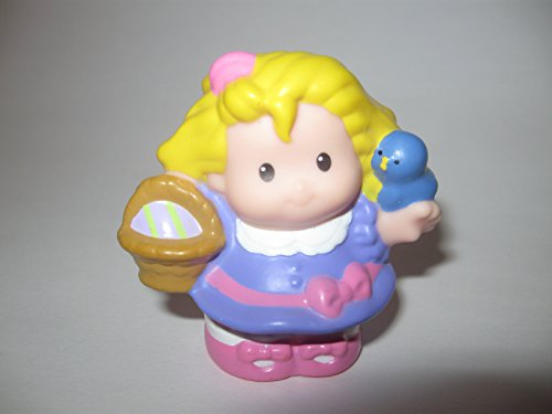 Fisher Price Little People Easter Sarah Lynn, Dressed Up w/ Easter Basket, Easter Play Sets OOP 2006 - 1
