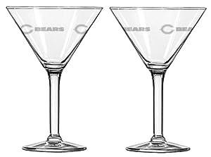 NFL 10-Ounce Martini Glass Set
