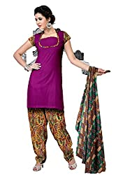 Riddhi Dresses Women's Cotton Unstitched Dress Material (Riddhi Dresses 93_Multi Coloured_Free Size)