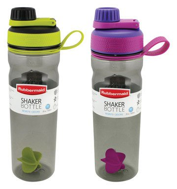 SHAKER BOTTLE 28 OZ ASTD by RUBBERMAID MfrPartNo 1896465