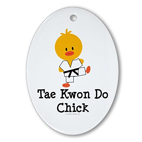 CafePress - Tae Kwon Do Chick Oval Ornament - Oval Holiday Christmas Ornament