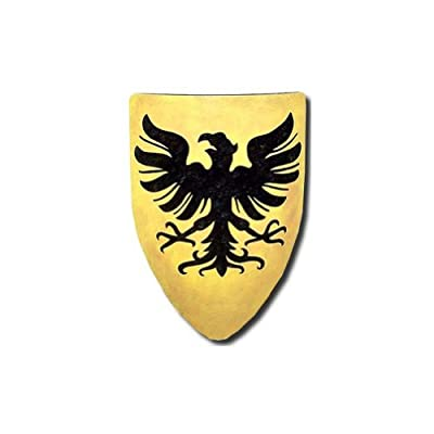 Germanic Eagle Medieval Shield - 16 Gauge Steel - Yellow/Black - One Size
