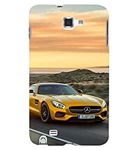 Printvisa Speeding Yellow Convertible Back Case Cover for Samsung Galaxy Note i9220::Samsung Galaxy Note 1 N7000