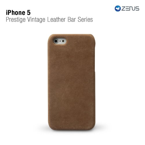 Great Sale Zenus Vintage Italian Leather Bar Case for Apple iPhone 5 (Earth)