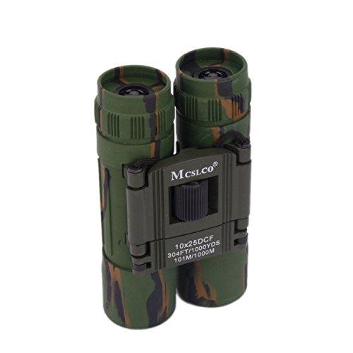 Telescope - 10 X 25Mm Mini Binoculars Telescopes Army Green