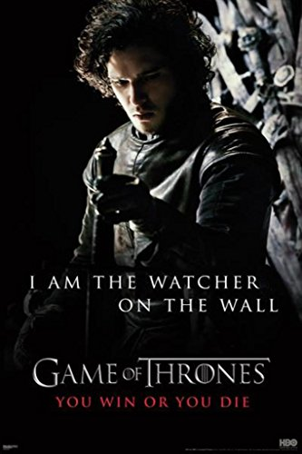 Game of Thrones I Am The Watcher Wall Poster