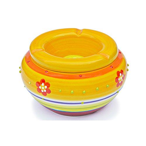 bella-portacenere-in-ceramica-4-pezzi-colore-giallo-sonnengelb-con-motivo-floreale-scomparire-fondam