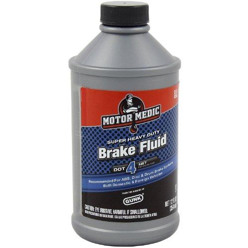Motor Medic by Gunk M4512/6-6PK DOT 4 Super Heavy Duty Brake Fluid - 12 oz., (Case of 6)