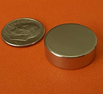 """Applied Magnets ® 10-pc Strong Rare Earth Disc Magnets 3/4"""" x 1/4"""" Neodymium"""