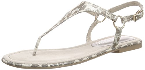 Marco Tozzi28108 - Infradito Donna , Argento (Silber (GOLD COMB 938)), 37