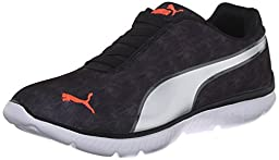 PUMA Women\'s Fashin ALT Walking Shoe, Black Puma/Silver, 6.5 M US