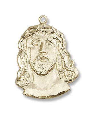 Gold Filled ECCE Homo Pendant Medal with 18