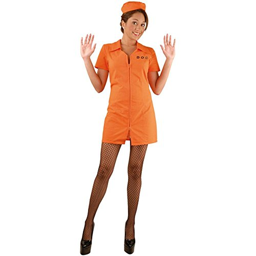 Charades Llc Women's Department Of Corrections Bad Girl Costume Orange Large