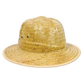 Safari Straw Hat Party Accessory (1 count) - 1