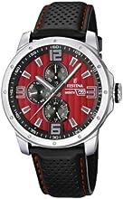 Comprar Festina F16585/7 - Reloj analógico de cuarzo para hombre con correa de piel, color negro