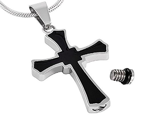 Black Cross Cremation Pendant By Casket Etcetera