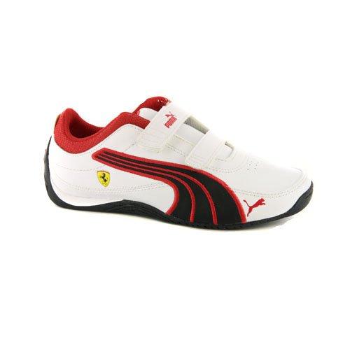 Kids Puma Drift Cat 4 Sf White Strap Sneakers-White-9.5 front-1063341