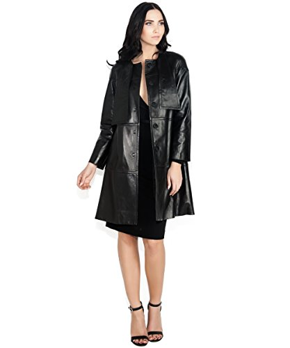 Valentino Leather Panel Trench Coat